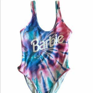 Barbie tie dye one piece bathing suit